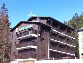 South Facing Apartment With Balcony At The Foot Of The Ski Pistes In Les Carroz