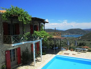 Beautiful Stone Villa - REDUCED RATE w/c 24/06 - Sea Views, Pool, Sleeps 10
