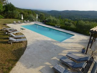 Beautiful Spacious Air Conditioned Villa, Private Heated Pool, Stunning View