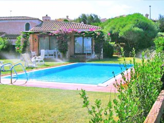 Stintino Spectacular, villa with pool for 5 people sea view and garden