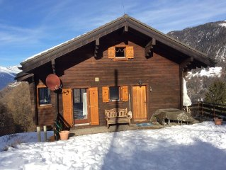 Family chalet with stunning views ideally situated.