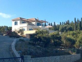 Idyllic 3 En-Suite Bedroom  Private Villa With Pool, Sea Views. Near Fiscardo