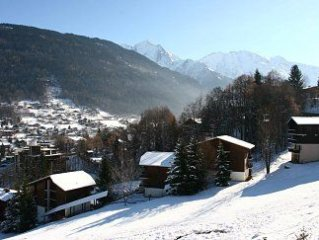 Ski and Summer Apartment with Views of Mont Blanc