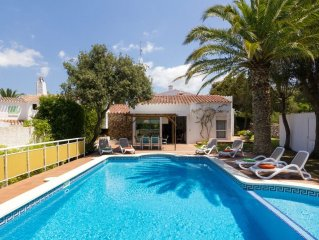Villa In Cala Galdana Situated Located In A Quite Resort. Sleeps 8. Private Pool