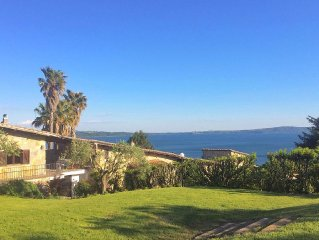 Luxury Villa with Views of Lake Bracciano, Available During Holidays