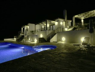 2 Bed Villa Set in Olive Grove With Private Heated Pool and Sea Views