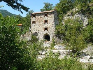 Beautiful Watermill on the River Marecchia