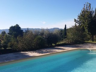 "Authentic Rustic Provencale Farmhouse ""Roumanille"" With Pool & Countryside Views"