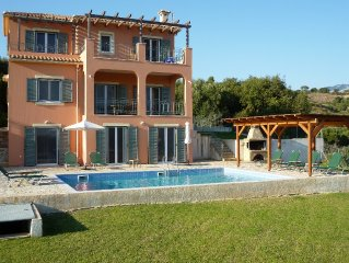 Beautiful five bedroom villa with sea views and pool in Kefalonia