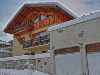 Luxury Self Catered Alpine Chalet, Sleeps 10 (4 Bdrms) In The Heart Of Paradiski