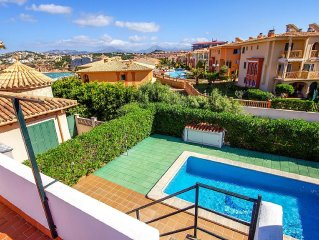 Wonderful Sea View Villa footsteps from the beach and Marina in  El Toro