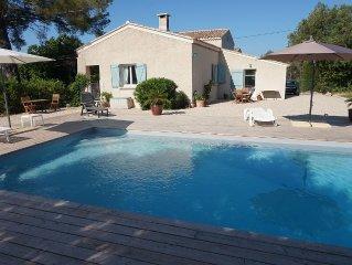 CIRCUIT DU CASTELLET Location Villa avec piscine chauffee, entre mer et campagne