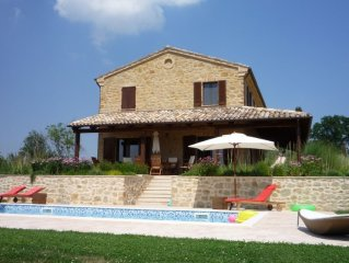 Stunning Luxury Stone Farmhouse in 10 acres with Private Pool & Fabulous Views