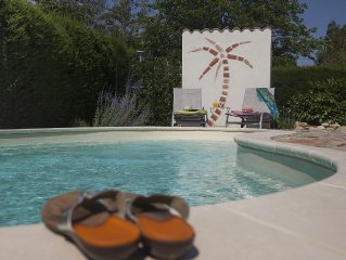 Idyllic gite with pool set in  gardens close to river and 5 mins walk to village