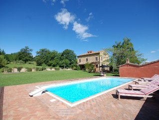 A beautiful family house with private pool and grounds in a rural setting