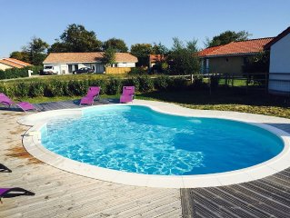 3 bed villa with private pool, set in a newly landscaped garden, beach location