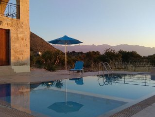 Stone Built Villa With Private Pool, Sea And Mountain Views