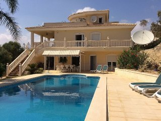 Detached Villa With Large Private Pool, Sea View and free Wifi