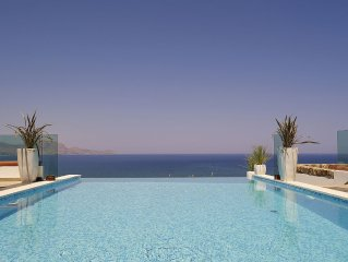 Lindos Destiny Luxury Villa Eos in Lindos with Private Heated Infinity Pool!