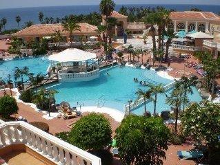Apartamento Tenerife Sur - primera linea playa las Americas - piscina - air cond