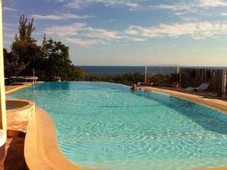 VILLA 5hp 2sdb QUIET pool gde débordt, jacuzzi, trampoline, table tennis, WIFI
