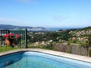 Nigran: Impresionante Vivienda con vistas al mar y valle con piscina privada y j