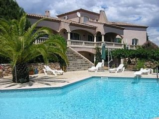 Quality Villa Over Thau Lagoon, Large Heated Pool