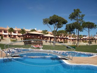 Townhouse Overlooking Pool and Gardens and facing Pestana Vila Sol Hotel.
