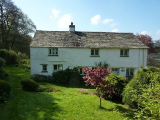 Peaceful South Lakes cottage with enclosed garden close to  Coniston water.
