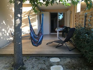 Appartement 2 pièces avec terrasse et jardinet  à 100m de l'océan carcans plage