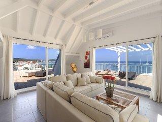 Appartement 6 p. sur la plage de Grand Case avec exceptionnelle vue panoramique
