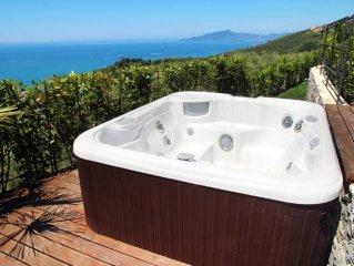 Villa con giardino stupenda vista mare jacuzzi a 20 minuti dalle Cinque Terre