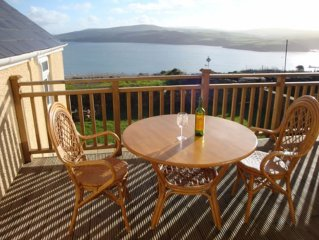 Elevated position, deck with stunning Views to the sea. 10 minute walk to beach.
