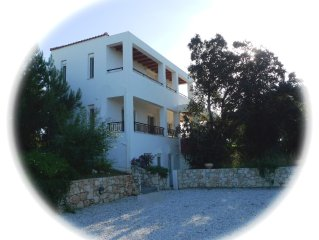 Luxury private villa with large private pool (12 m) with sea view in Vamos