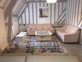 Appartement classé 4 étoiles côte normande de 116 m² à 100 m du bord de mer.
