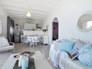 2 bedroom villa on the beach with garden and sea views near Gerald Durrell villa