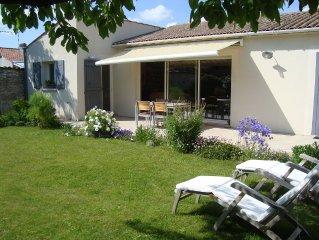 maison avec jardin aux portes de la Rochelle pour 4/6 personnes