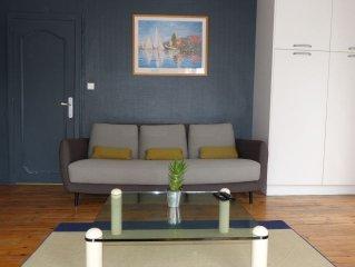 Appart centre ville, moderne, spacieux, 1 lit King size + 1 lit simple