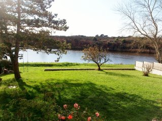La Heronniere : pleine vue sur la Ria d'Etel et ses oiseaux au bout du jardin