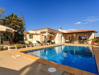 Beautiful Villa With Private Heated Pool, Gardens And 5 Minutes Walk From Beach