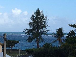Appt luxe plage Sainte-Anne Guadeloupe res. fermee confort internet commerces