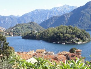 Apartment 90 sqm in villa with garden and spectacular view of the lake from 450
