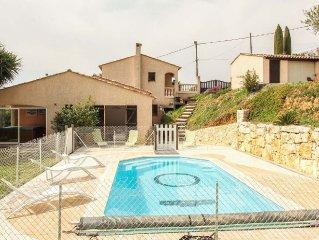 Villa individuelle apercu mer  , CALME ABSOLU , avec piscine et jacussi