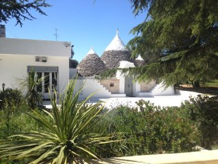 Delightful trullo set in it's own olive grove with free WiFi and private pool