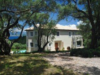 Delightful Secluded Villa Above Avlaki. Fabulous Views, Private Pool, A/C Wi-fi