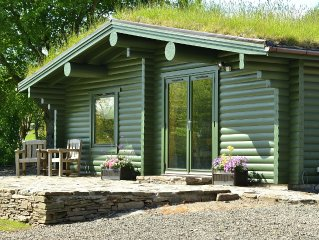 Beautiful secluded self-catering log cabin situated in it's own private grounds.
