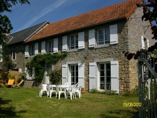 Traditional Normandy Stone  made country house at seaside