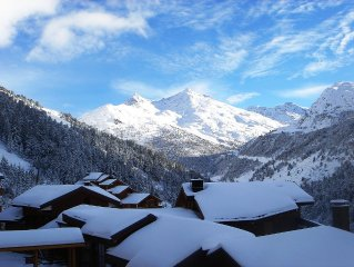 Meribel,on the slopes, Beautiful and spacious apartment in a 4* residence,12per