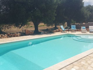 Restructured Trulli with 2 Appartments, private 12 m Pool, own land of 2500 sqm