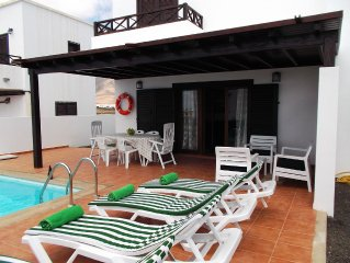 Villa privada con terraza y piscina cerca de Marina Rubicón